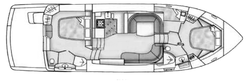 500-504 Cockpit Motor Yacht Floor Plan 2
