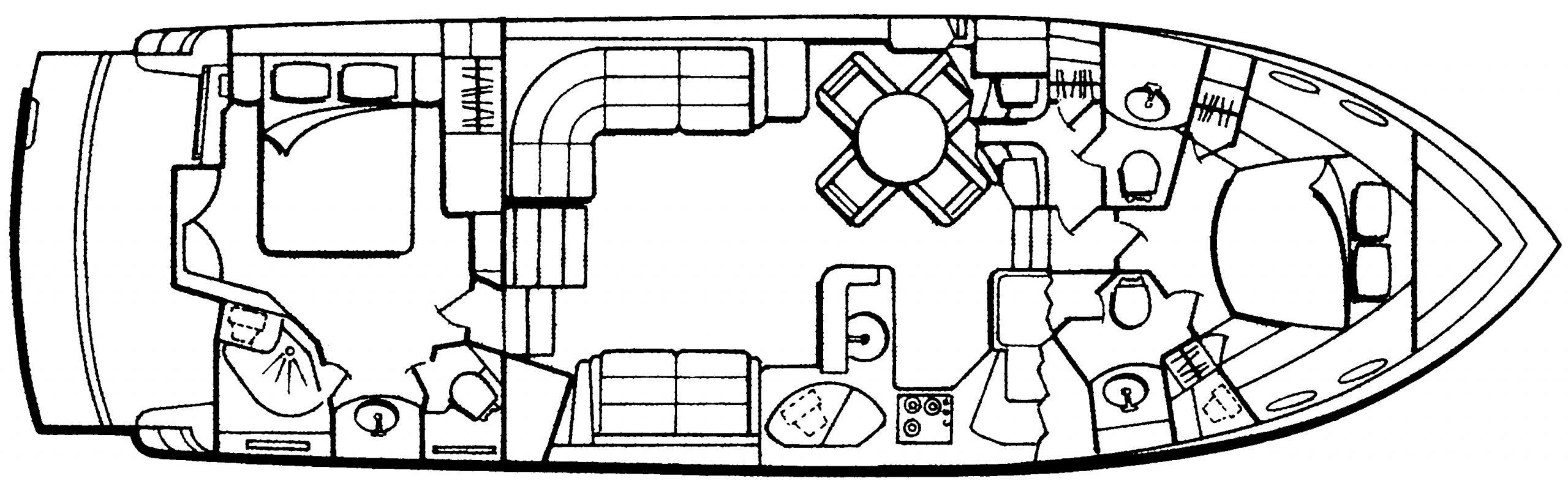 506 Motor Yacht Floor Plan 1