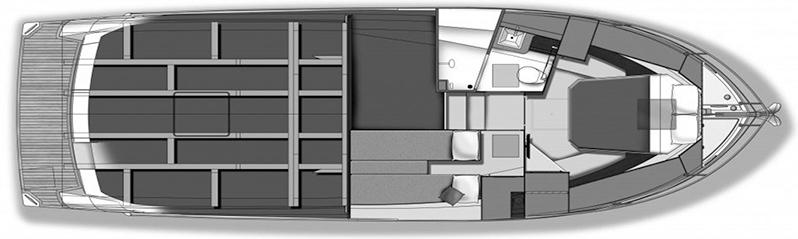 Carver C34 Command Bridge Floor Plan 2