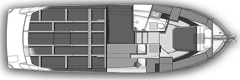 Carver C36 Command Bridge Floor Plan 2