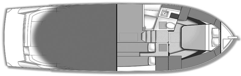 Carver C37 Coupe Floor Plan 2