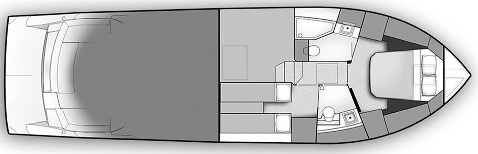 Carver C43 Floor Plan 2