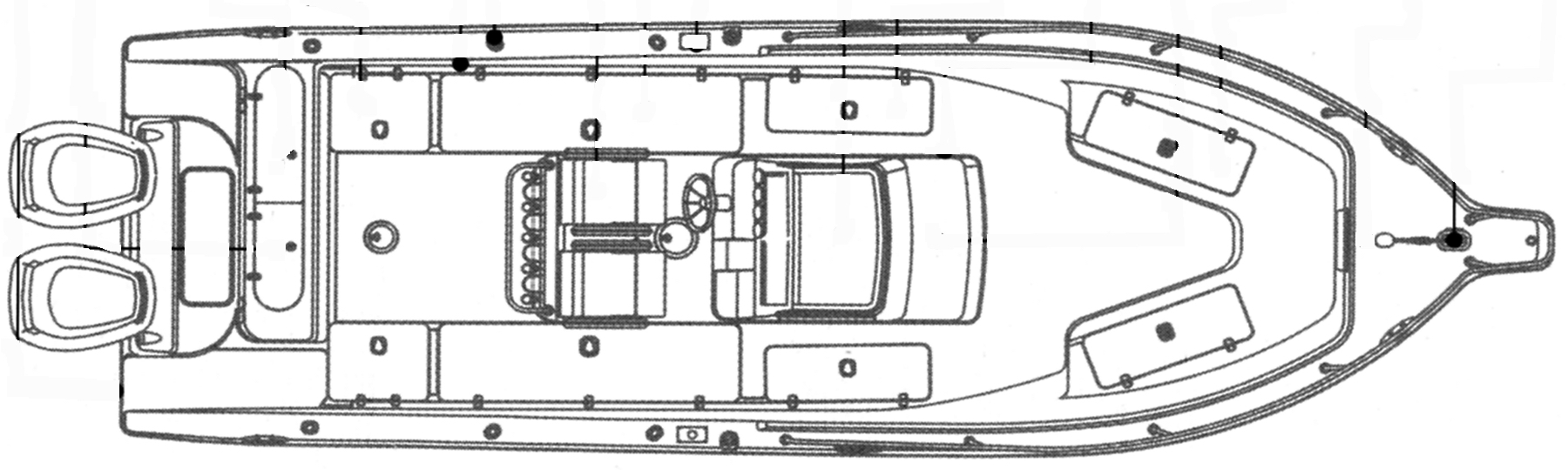 Century 2900-2901 Center Console Floor Plan 2