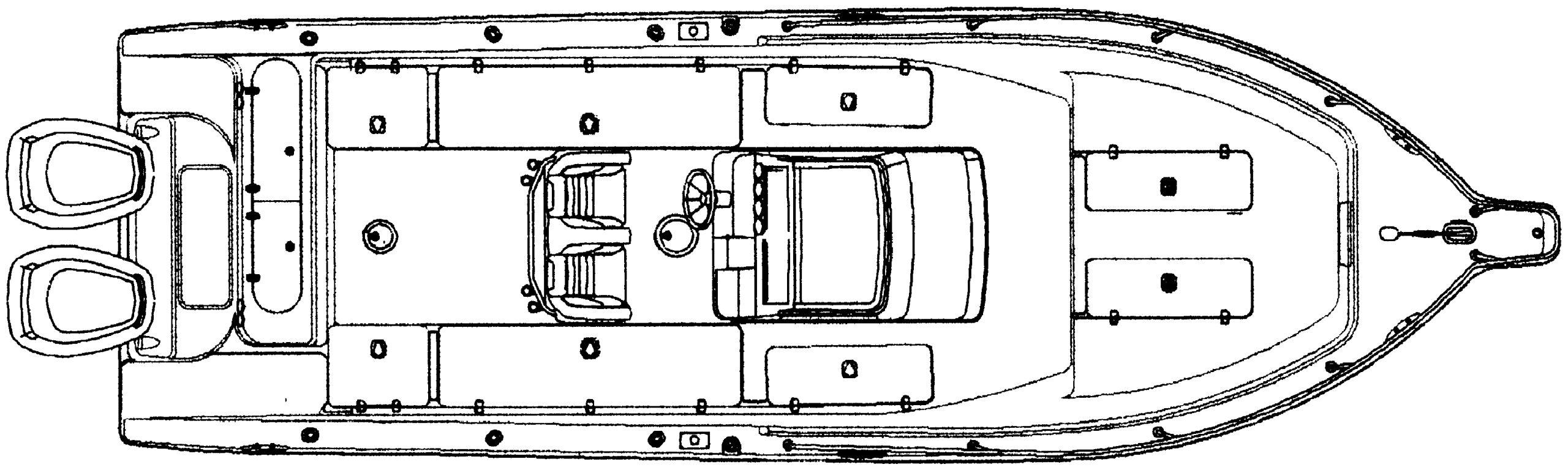 2900-2901 Center Console Floor Plan 2