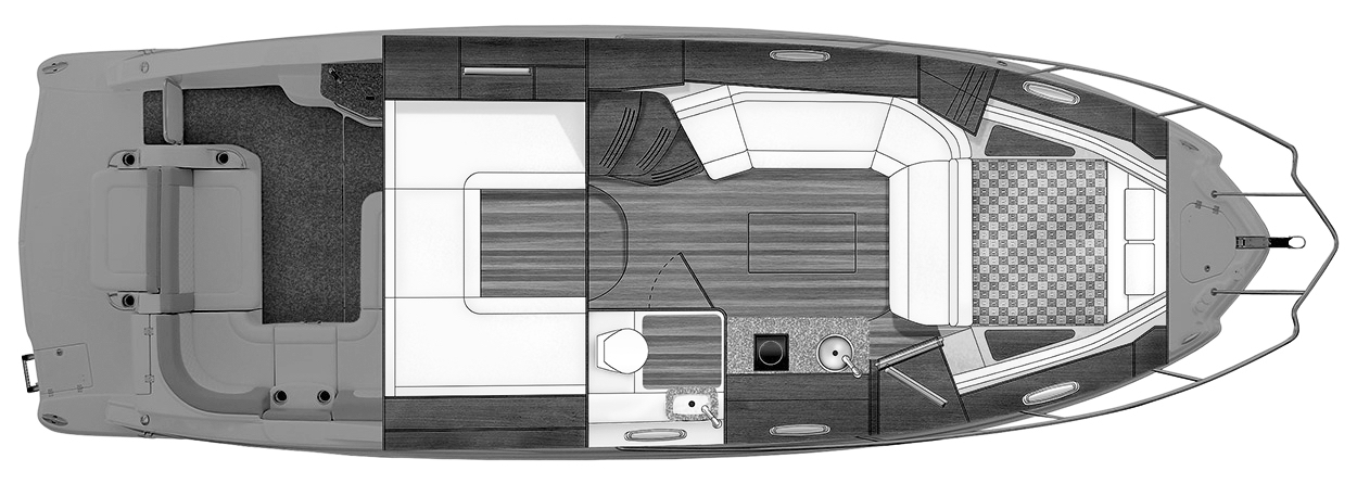 Chaparral 330 Signature Floor Plan 2