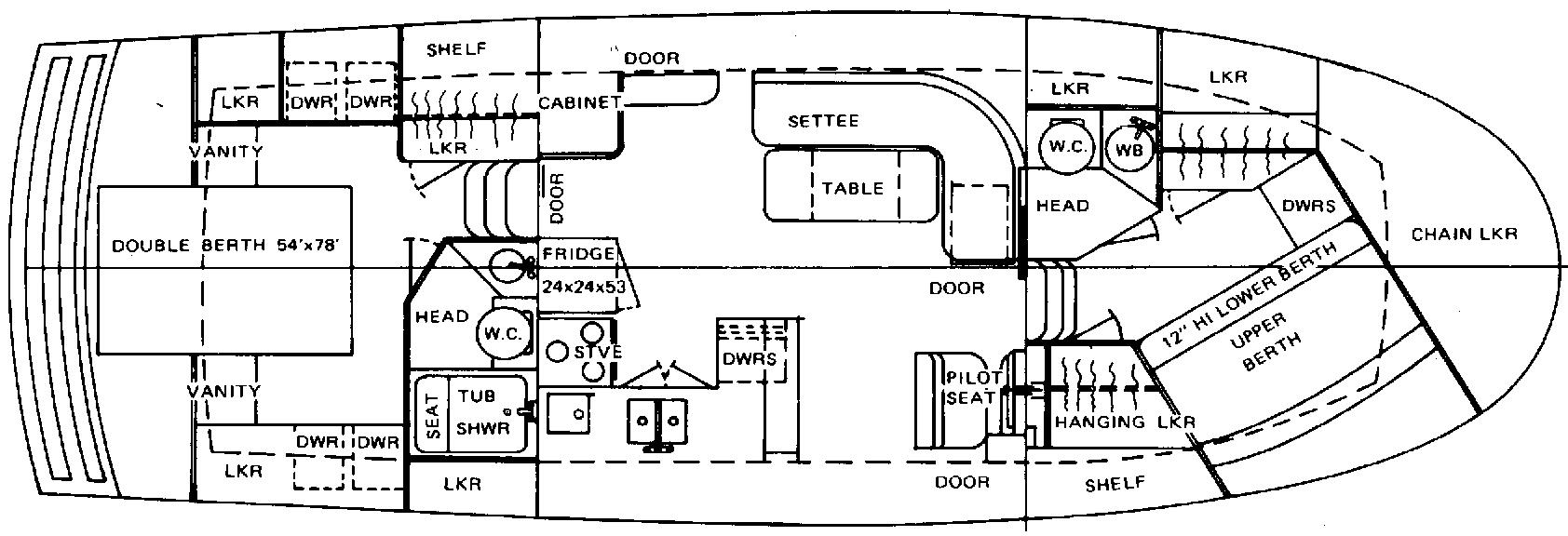 38 Double Cabin Floor Plan 1