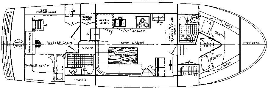 Cheoy Lee 40 LRC Floor Plan 2