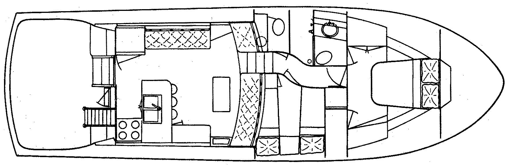 48 Sport Yacht Floor Plan 1
