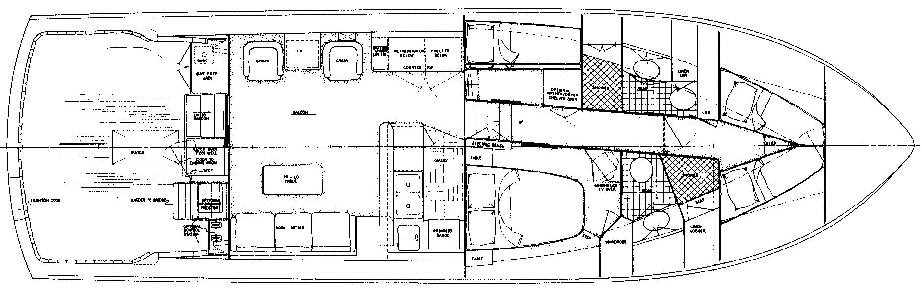 50 Sportfisherman Floor Plan 1