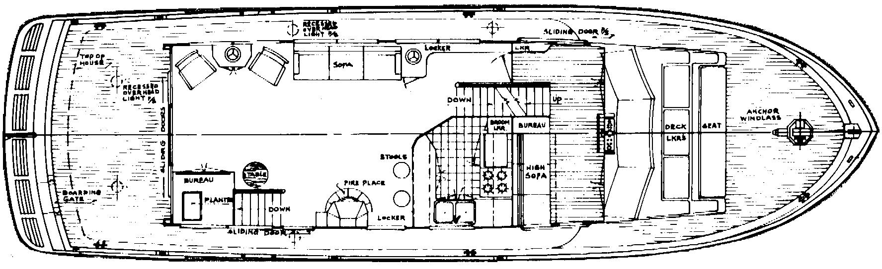 55 Long Range Trawler Floor Plan 2