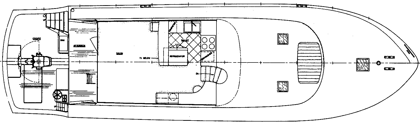 66 Sport Yacht Floor Plan 2