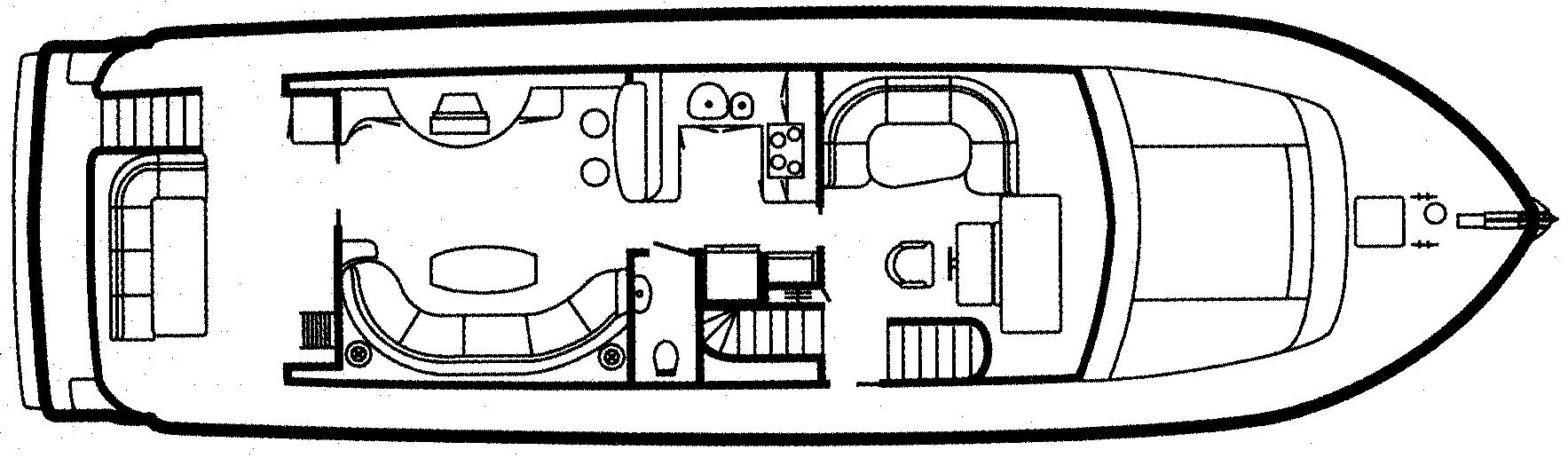 68 Sport Motor Yacht Floor Plan 2