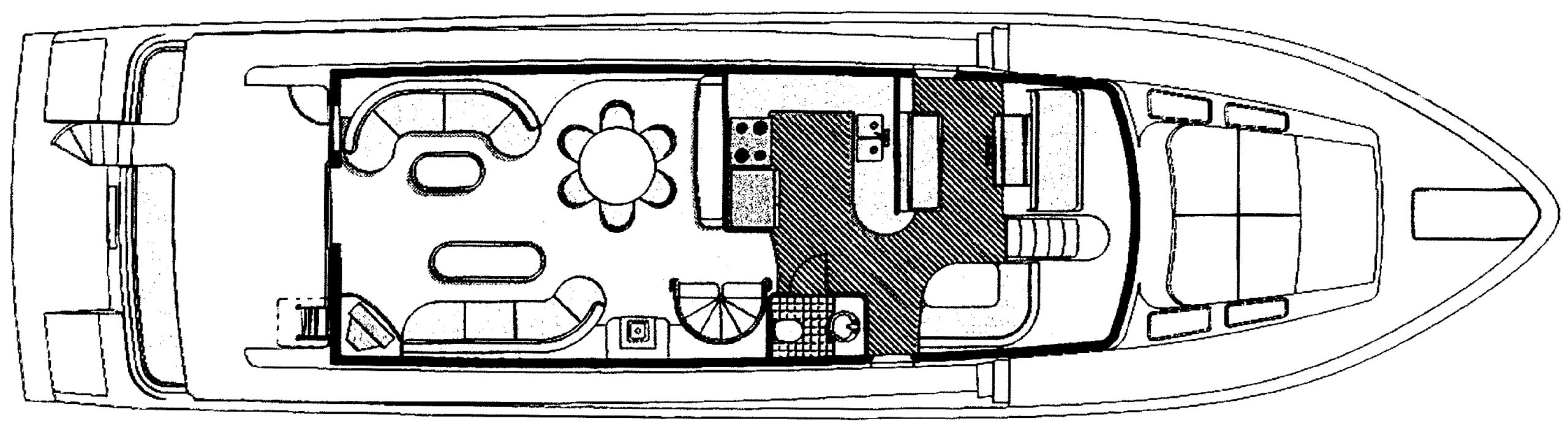 81 Sport Yacht Floor Plan 2