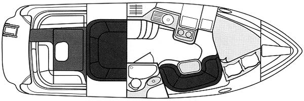 320-328 Express Cruiser Floor Plan 1