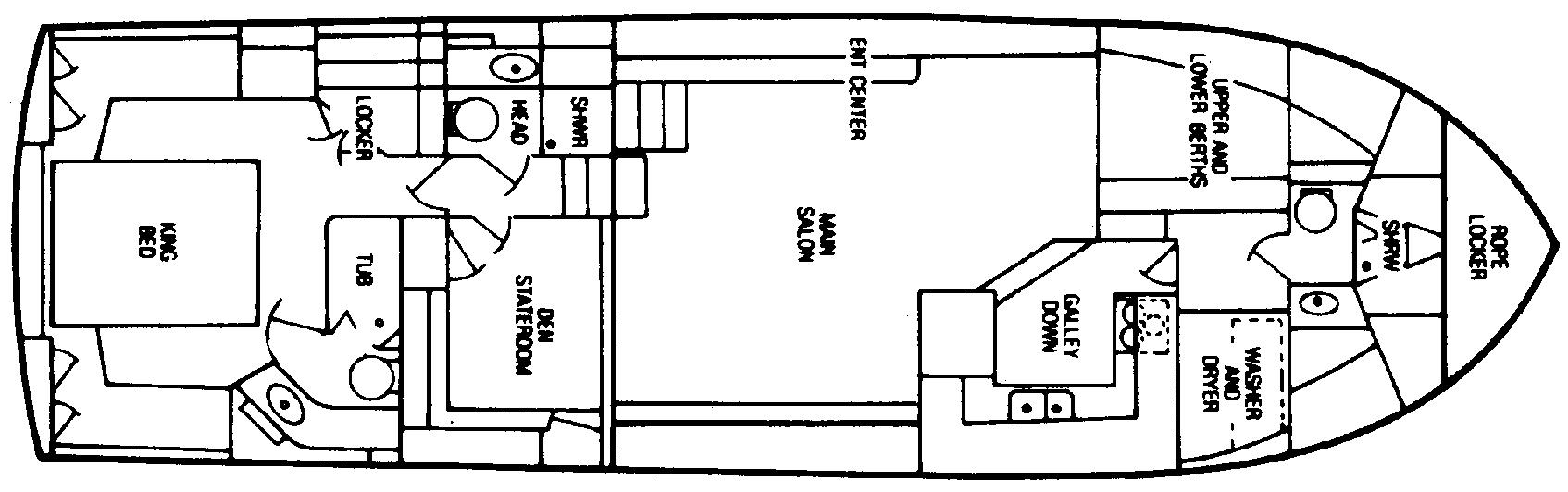 500 Constellation Motor Yacht Floor Plan 1