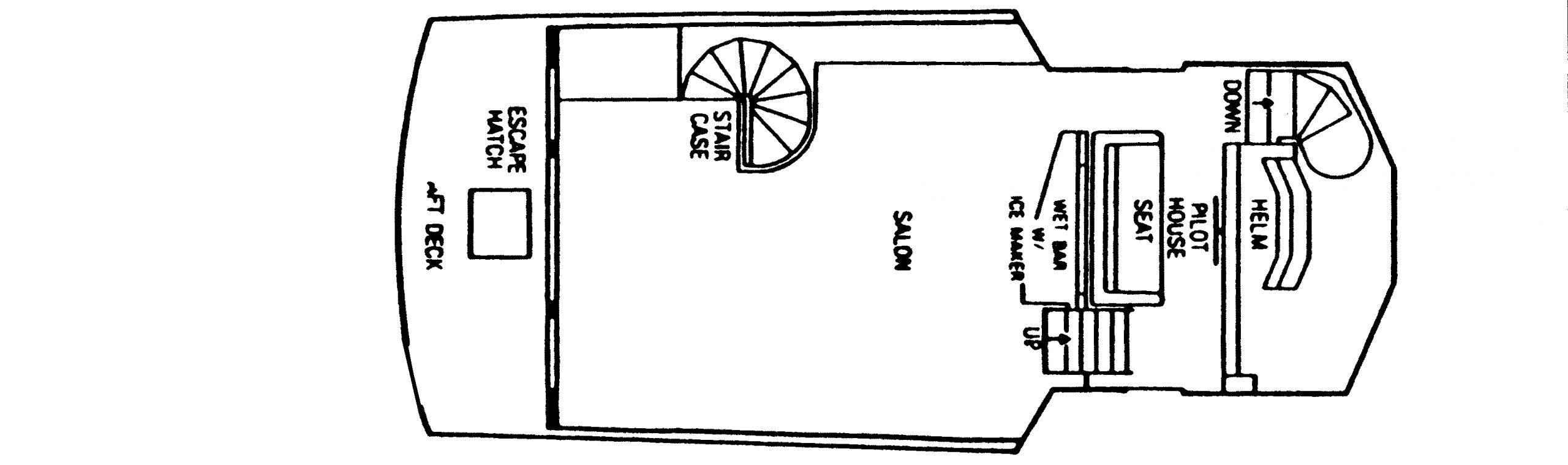 501 Motor Yacht Floor Plan 2