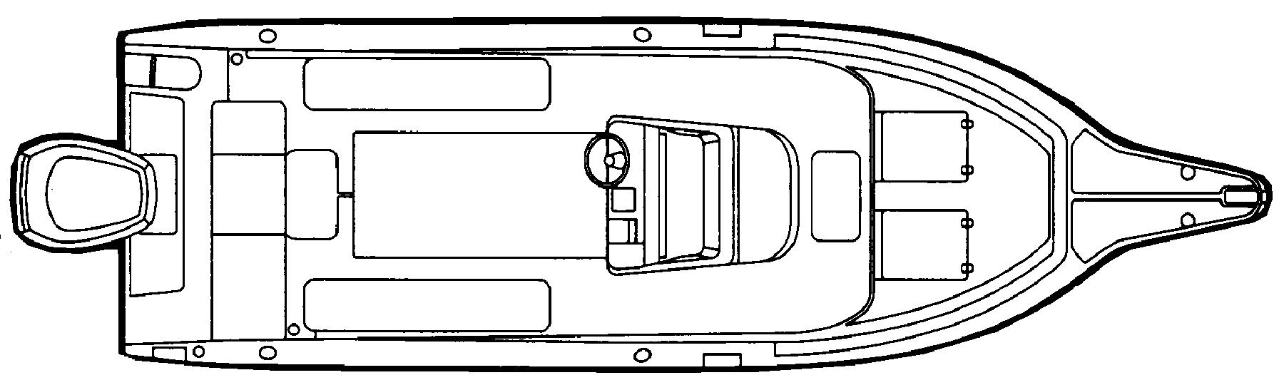 274 Center Console Floor Plan 1