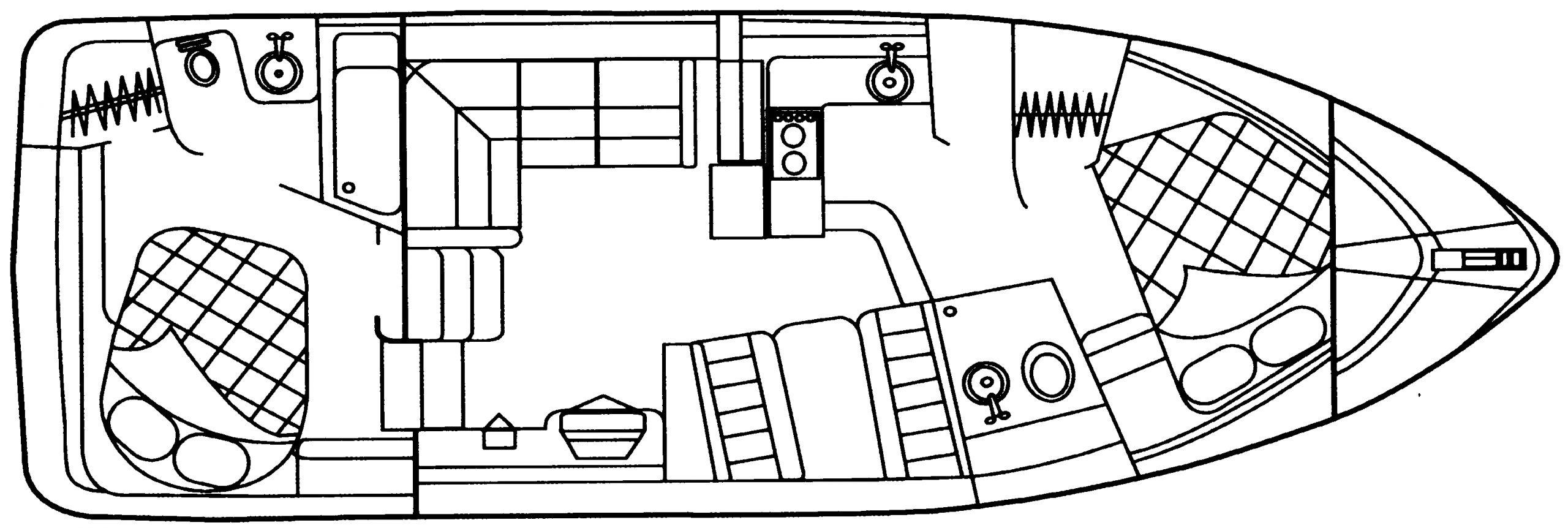 3650-3750 Motor Yacht; 375 Motor Yacht Floor Plan 1