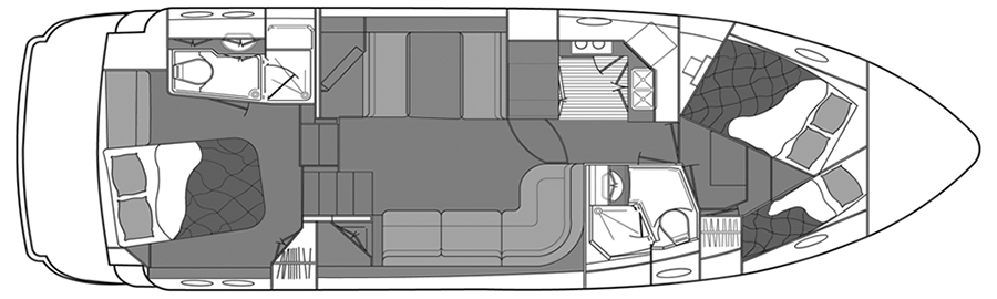 385-395 Motor Yacht Floor Plan 2