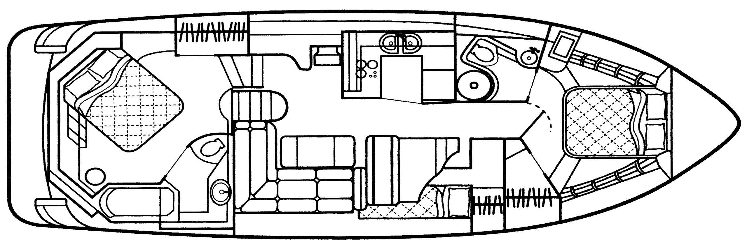 4450 Express Motor Yacht Floor Plan 1