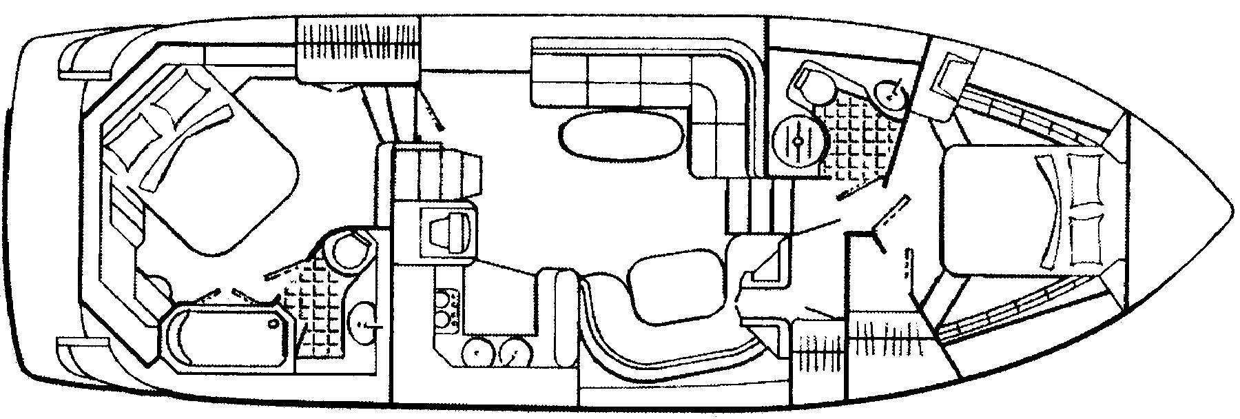 455 Express Motor Yacht Floor Plan 1
