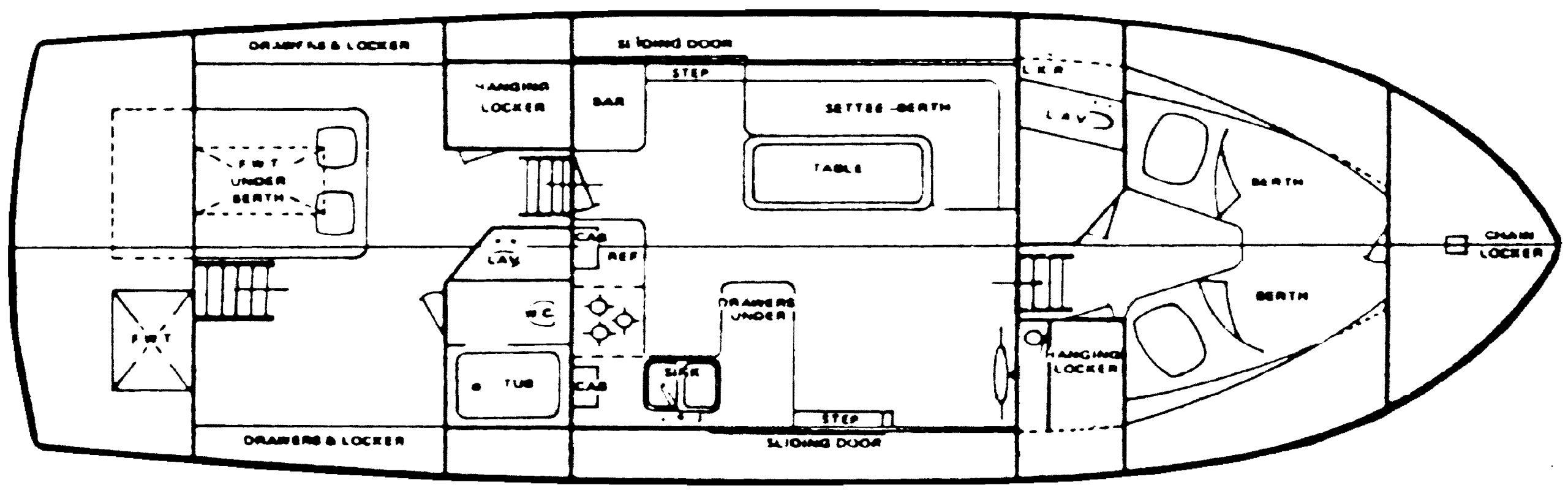 41 Trawler Floor Plan 2