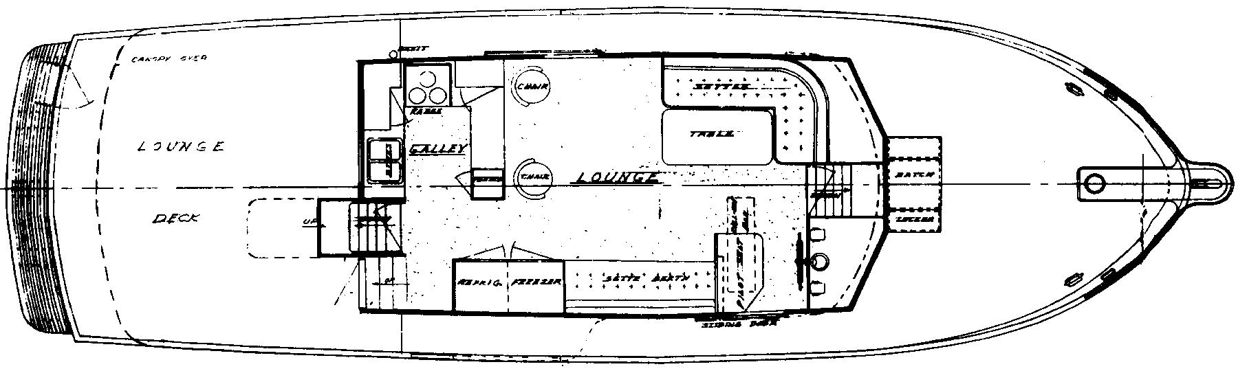 44 Offshore Cruiser Floor Plan 2