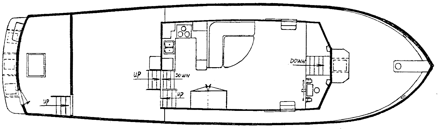 49 Cockpit Motor Yacht Floor Plan 2