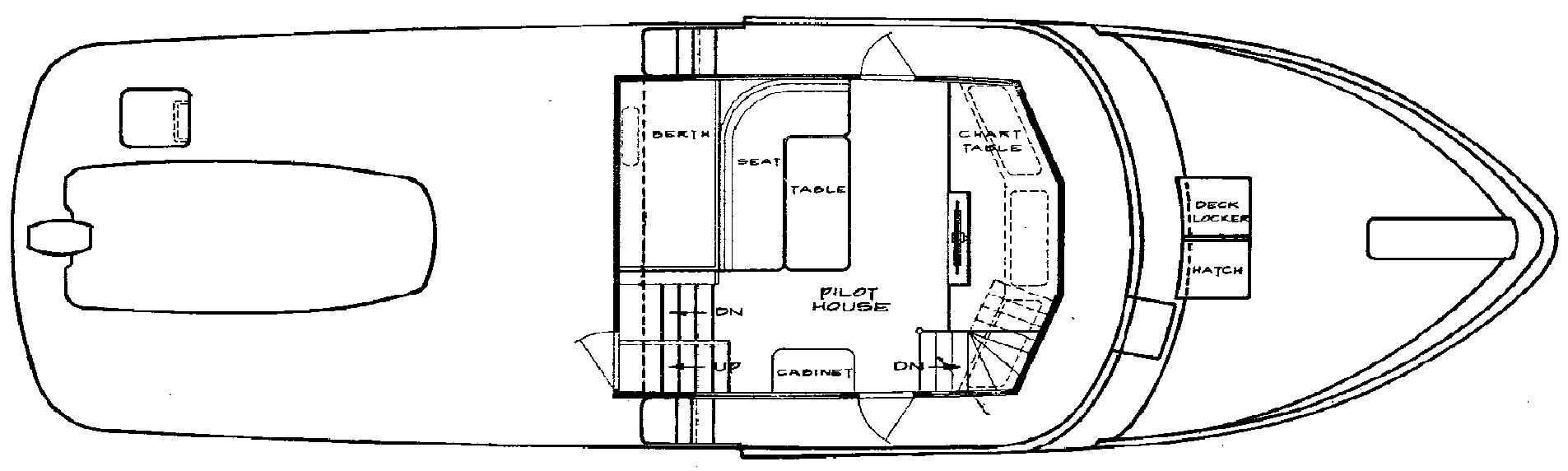 49 Pilothouse (Hard Chine) Floor Plan 2