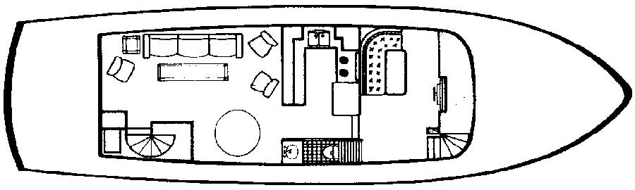 52 Offshore Cruiser Floor Plan 2