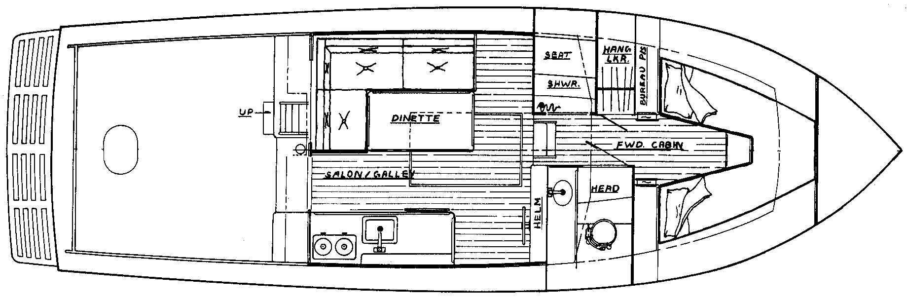 35 Flybridge Floor Plan 1