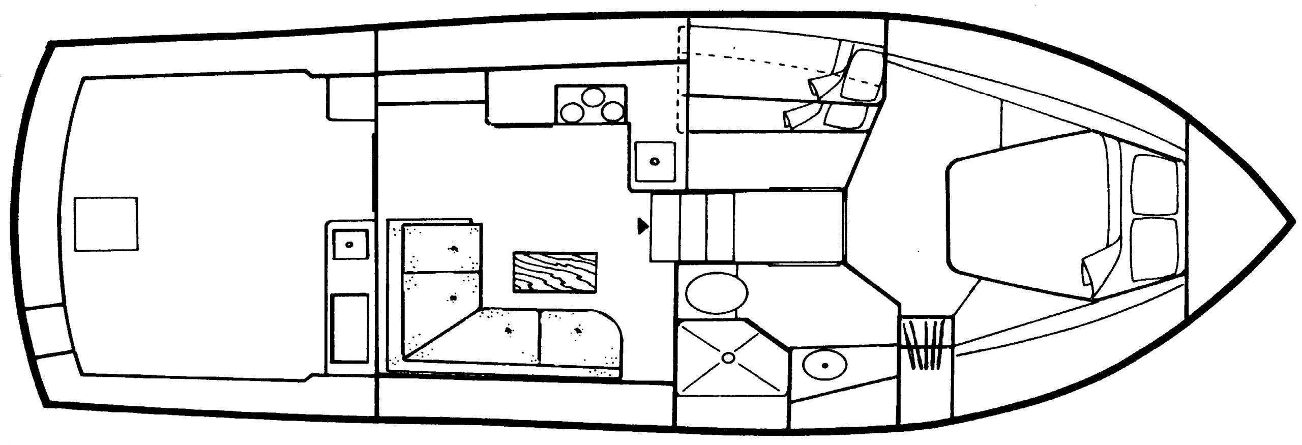 35 Sport Yacht Floor Plan 2