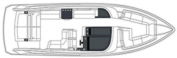 330 Crossover Bowrider Floor Plan 1