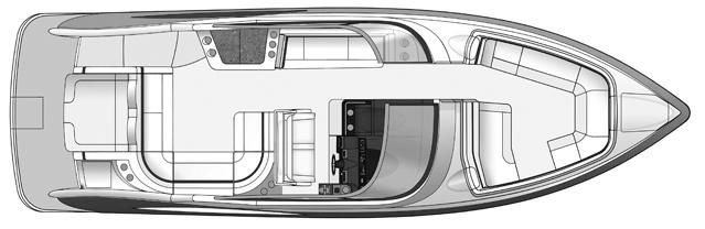350 Crossover Bowrider Floor Plan 2