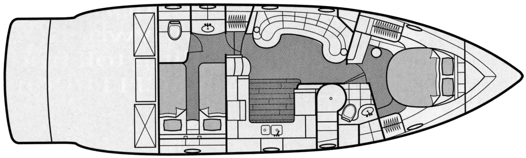 48 Yacht Floor Plan 1