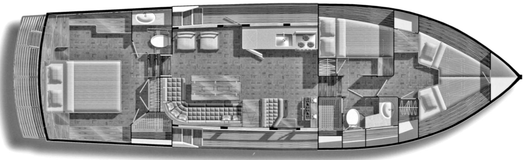 42 Motor Yacht Floor Plan 2