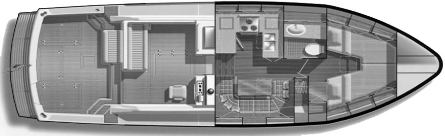Eastbay 38 EX-HX Floor Plan 2