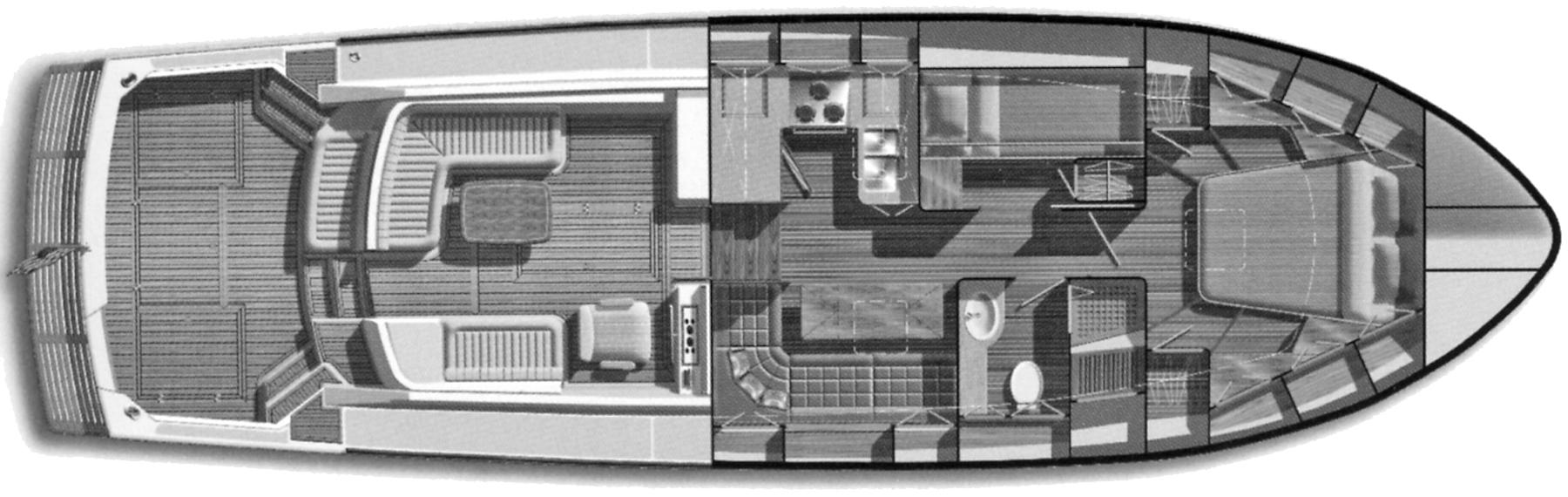 Eastbay 43 EX Floor Plan 2