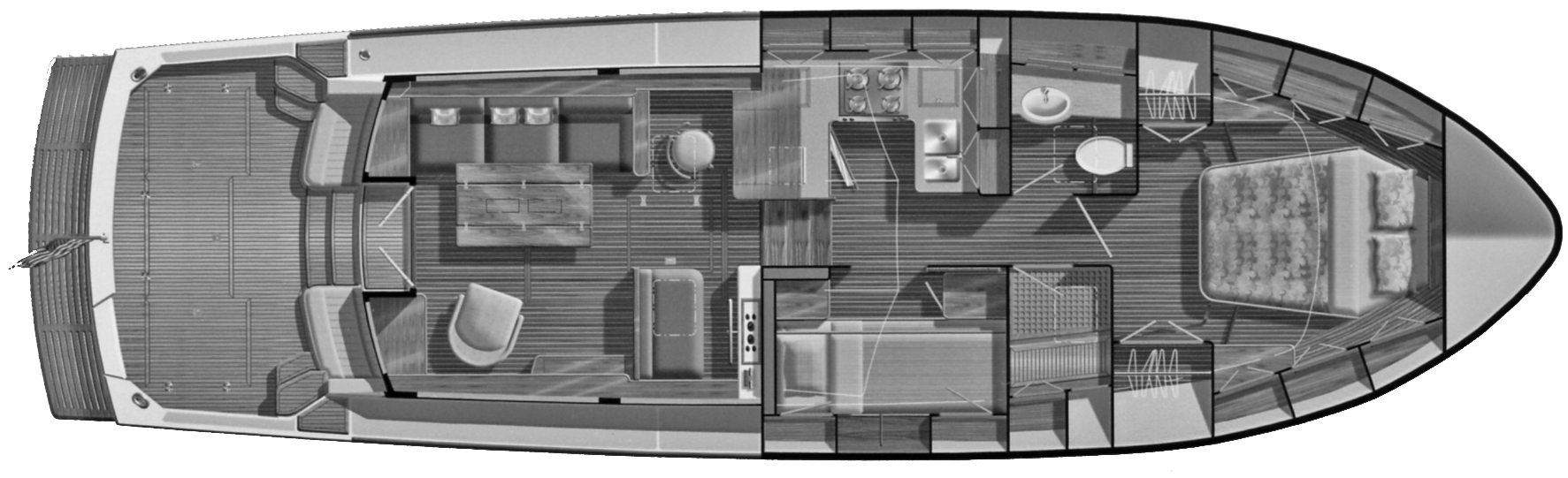 Eastbay 43 SX-HX Floor Plan 2