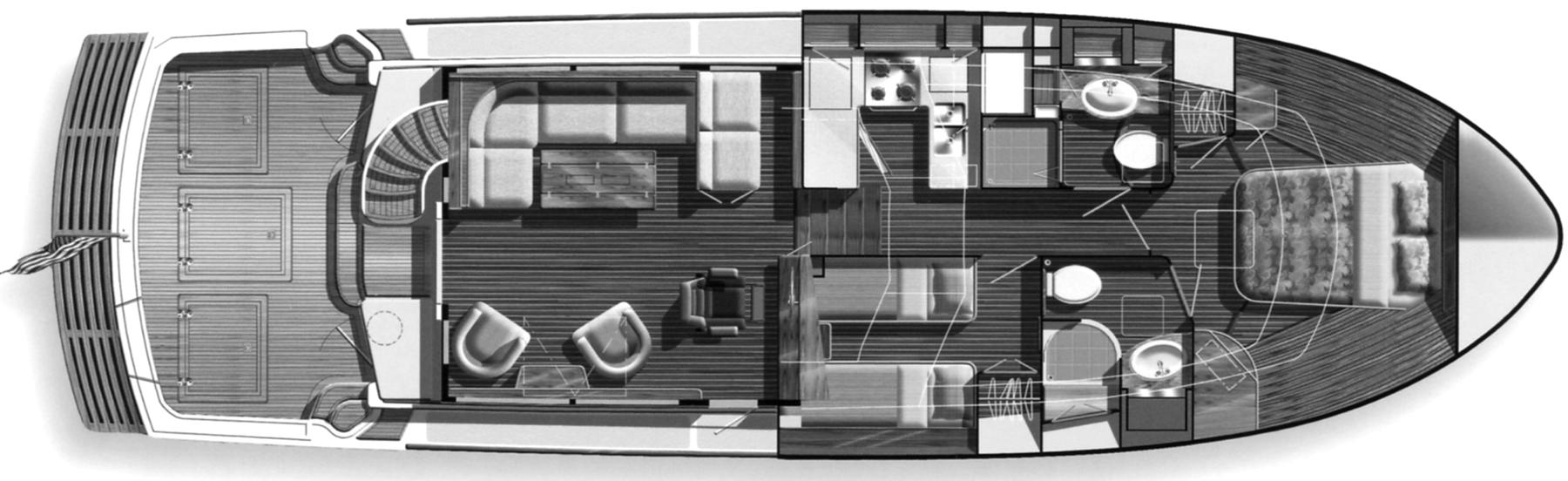 Eastbay 47 Flybridge Floor Plan 2