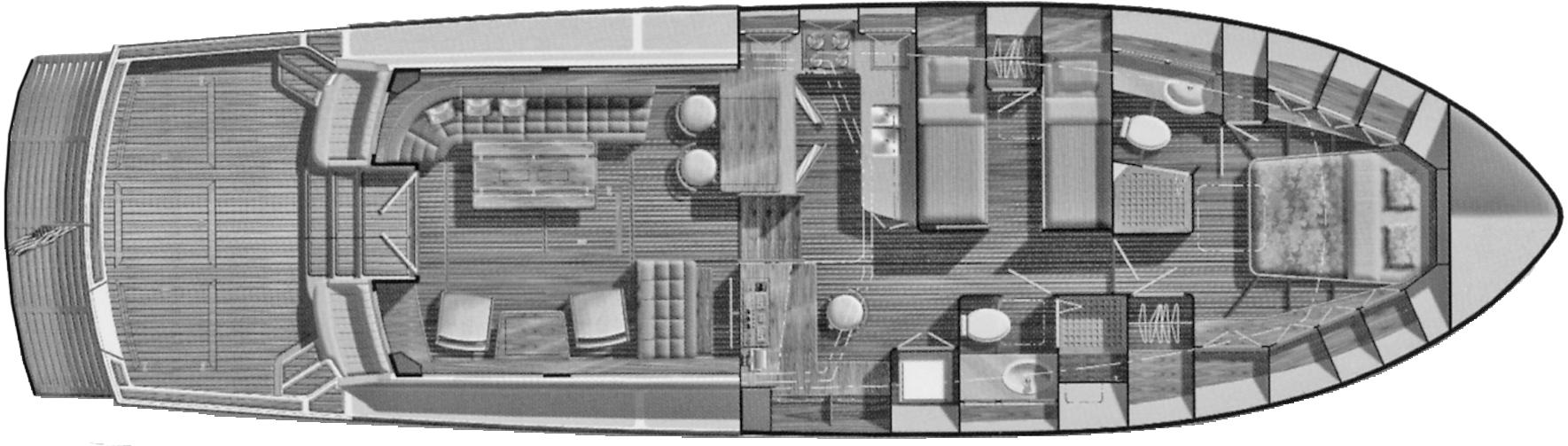 Eastbay 54 SX Floor Plan 2