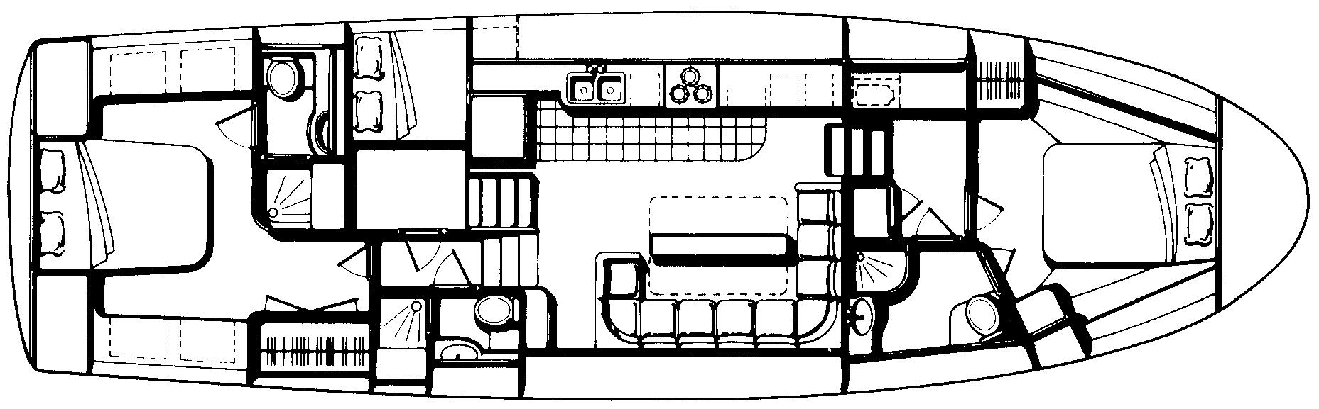 49 Motor Yacht Floor Plan 2