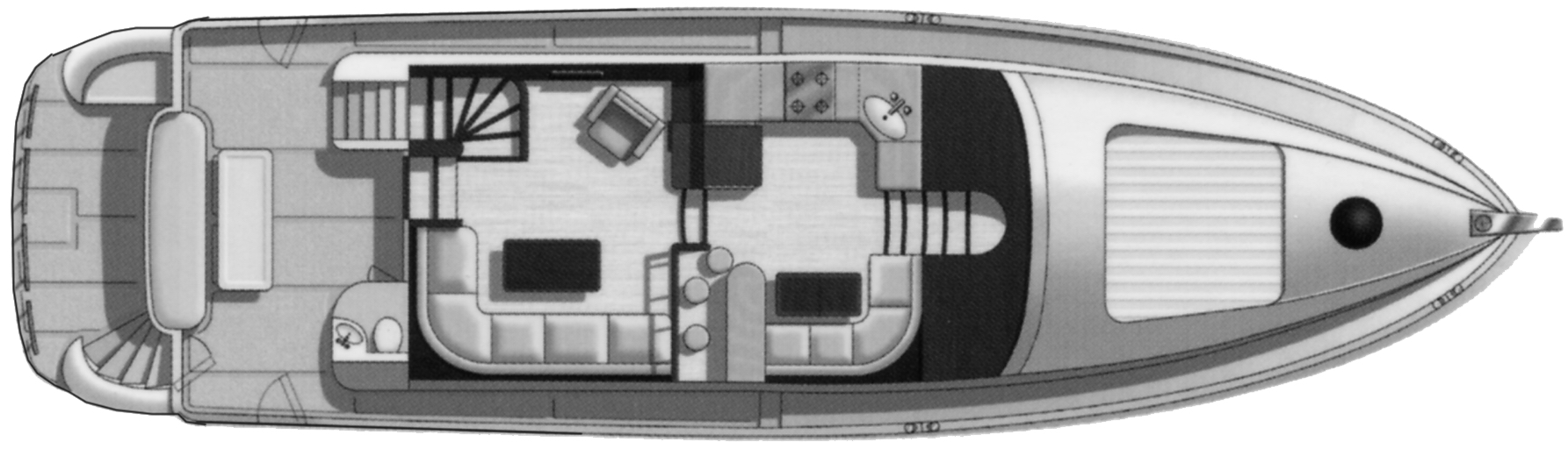 600 Motor Yacht; 660 Cockpit MY Floor Plan 2