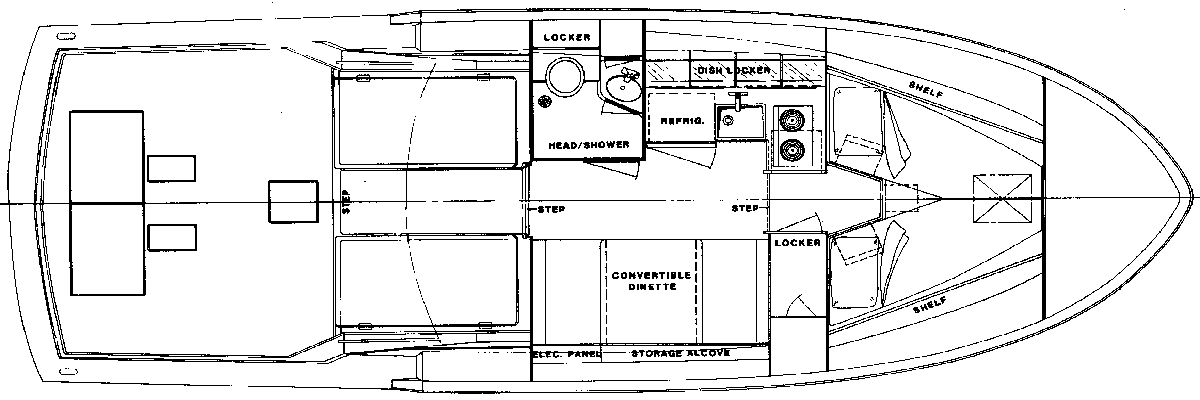 32 Flybridge Fisherman Floor Plan 1