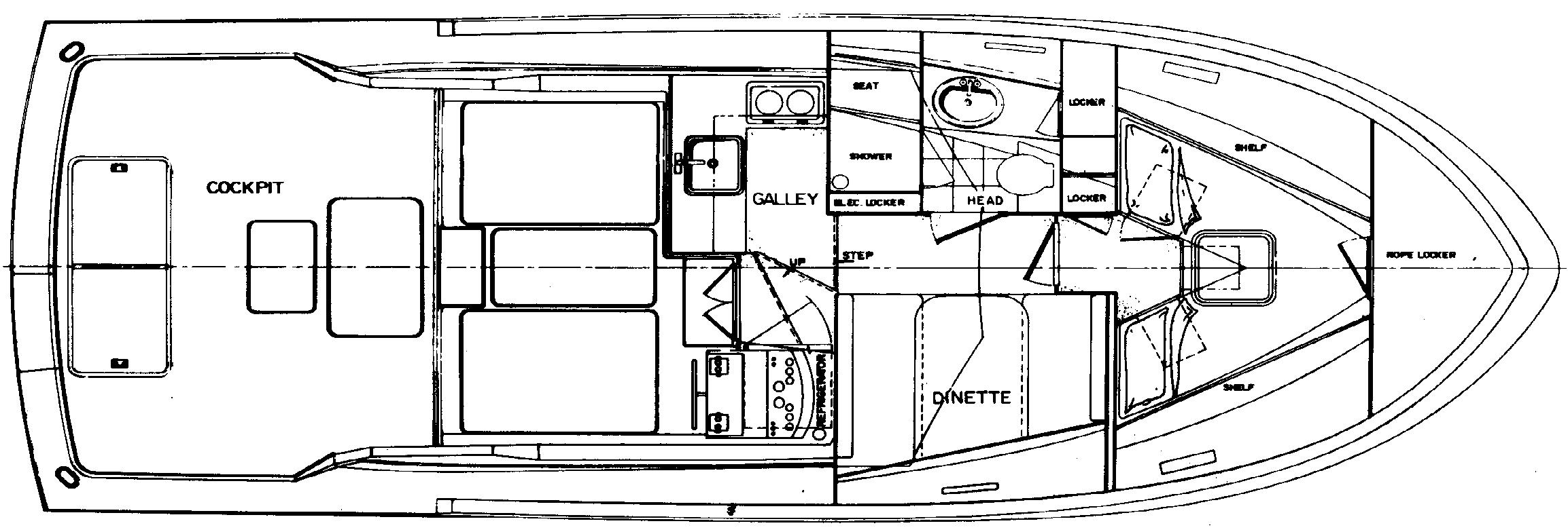 36 Sport Fisherman Floor Plan 1
