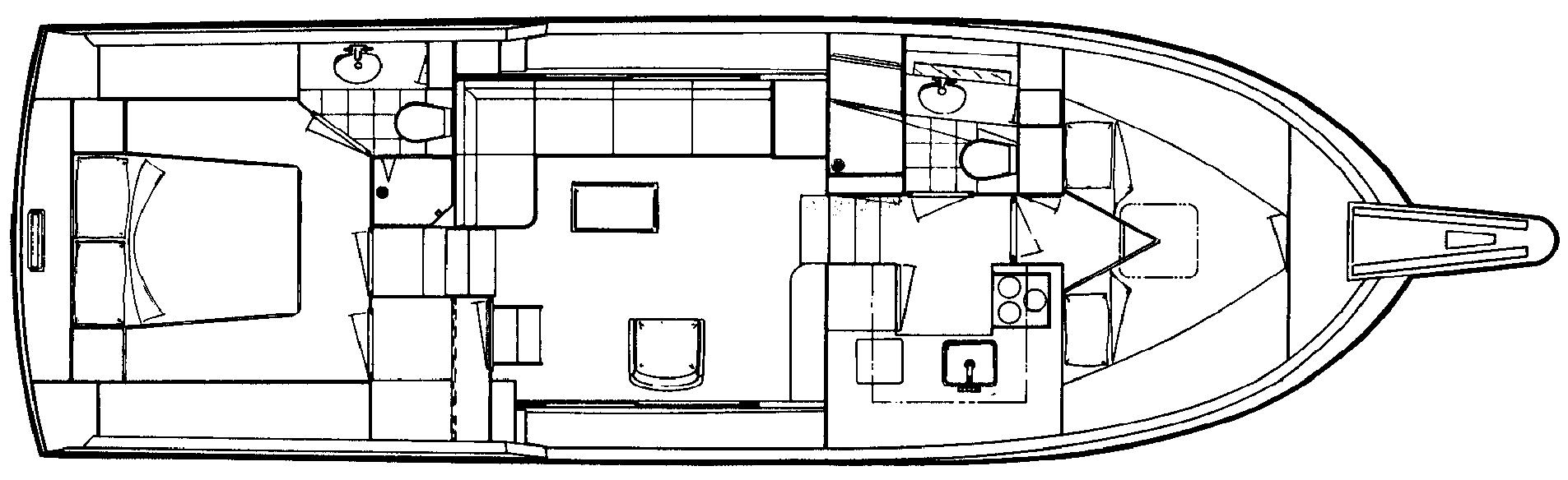 40 Double Cabin Floor Plan 2