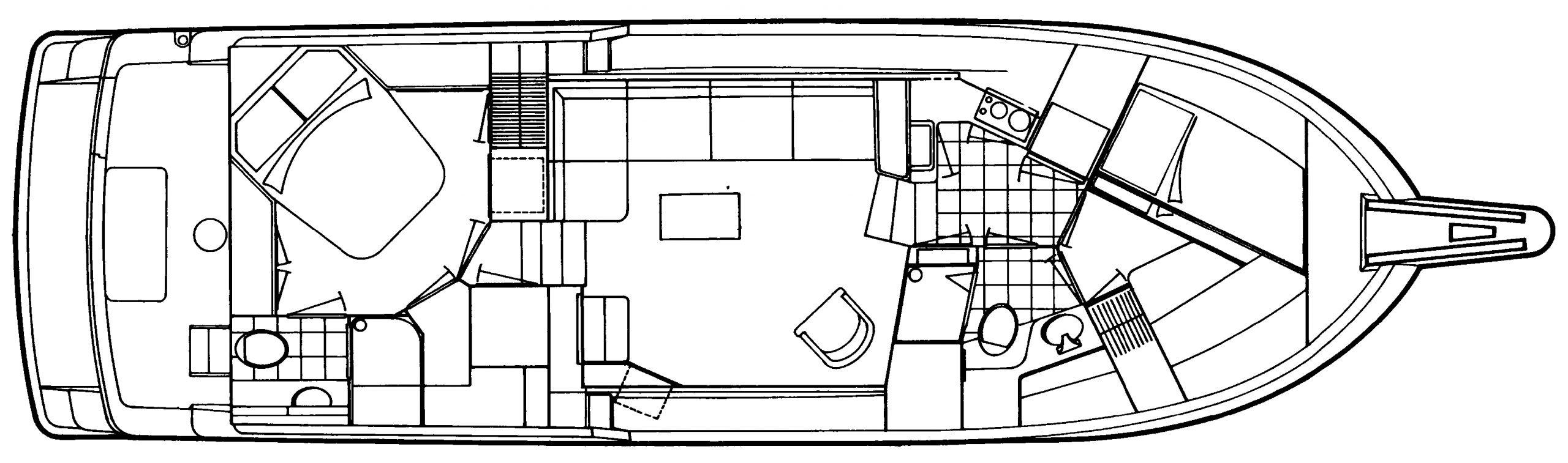 42 Cockpit Motor Yacht Floor Plan 2
