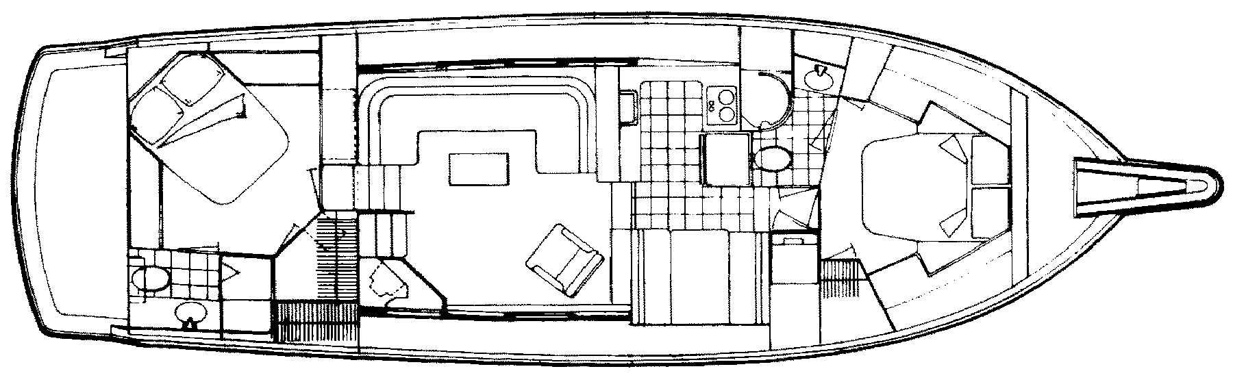 48 Cockpit Motor Yacht Floor Plan 2