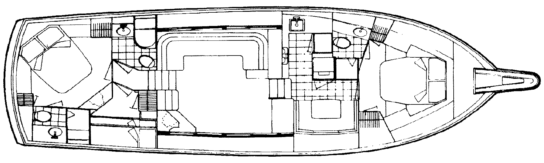 48 Motor Yacht Floor Plan 2