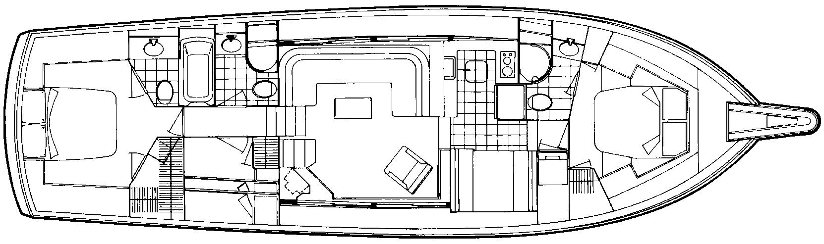 52 Motor Yacht Floor Plan 2
